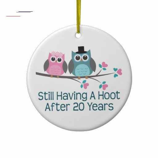 Christmas Gifts For Parents Uk 2020 Gift For 20th Wedding Anniversary Hoot Christmas Ornament | Zazzle