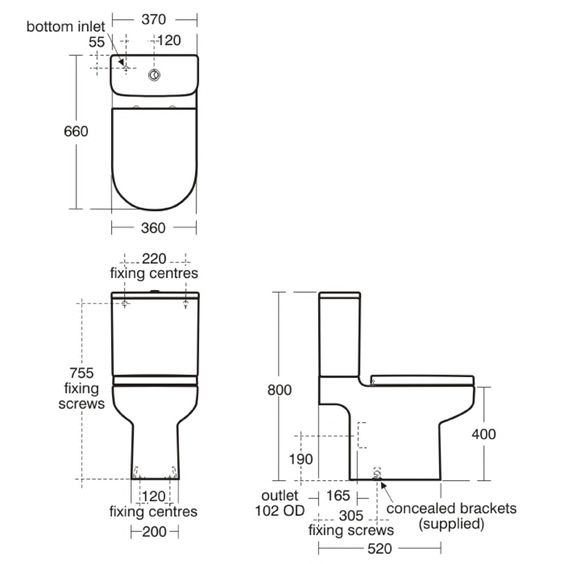Standard toilet dimensions google search 2 interior for Standard tub dimensions