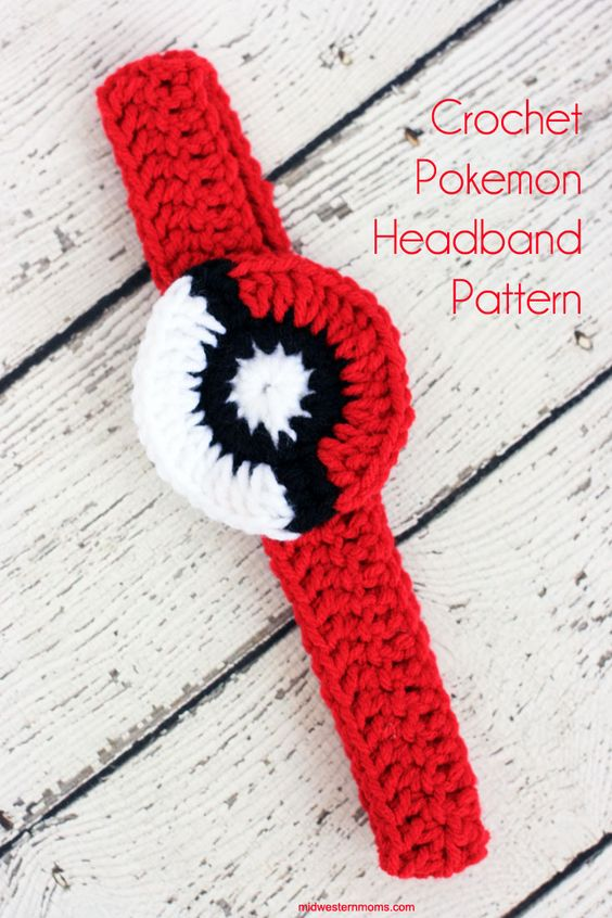Pokeball crochet headband pattern. Perfect for the Pokemon Go crazed girl.:
