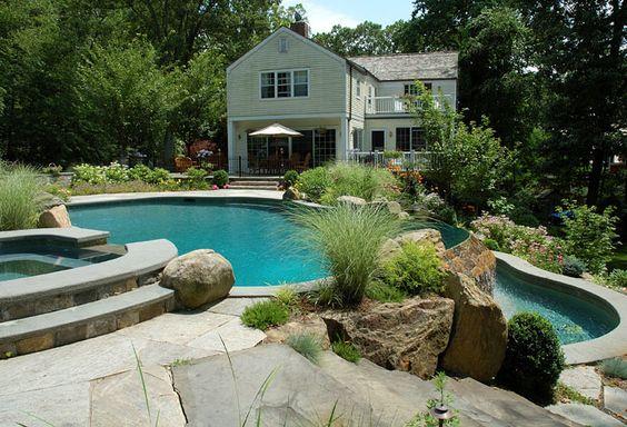 Swimming Pools Photos Natural Stone Vanishing Edge Pool Design Ct Ny Backyard