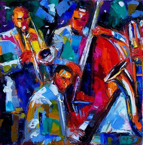 Abstract Jazz Art Painting music Paintings by Debra Hurd, original painting by artist Debra Hurd | DailyPainters.com