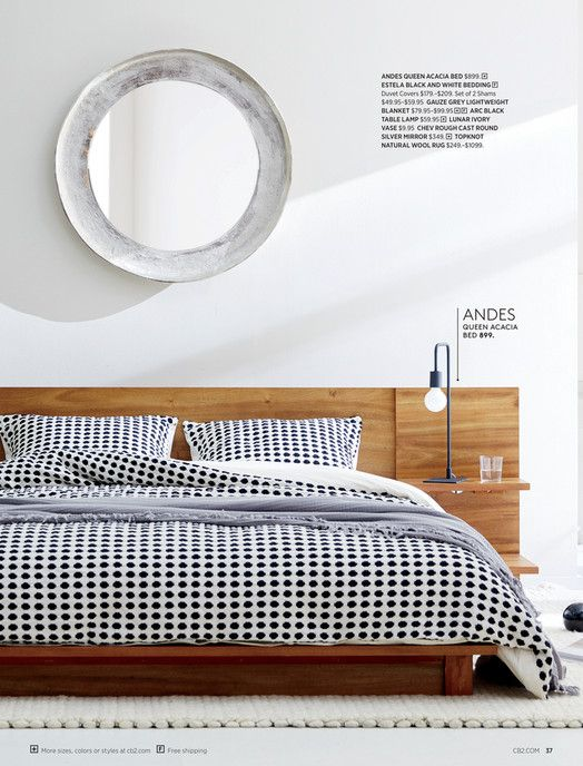 Cb2 April Catalog 2019 Andes Acacia Queen Bed Bed Bed Furniture Queen Beds