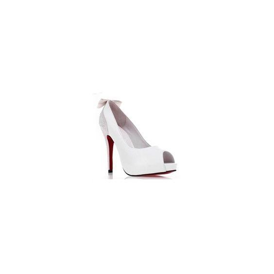 Charming Rhinestone Wedding/Party Stiletto Shoes ($30) via Polyvore