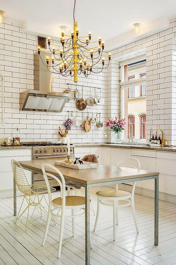 Blanco nórdico y dorado chic | Decorar tu casa es facilisimo.com