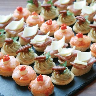 Cold canapes chic party food pinterest shops for Summer canape ideas