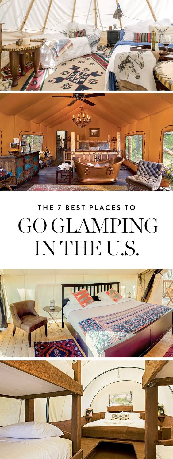 glamping in the USA; glamour camping