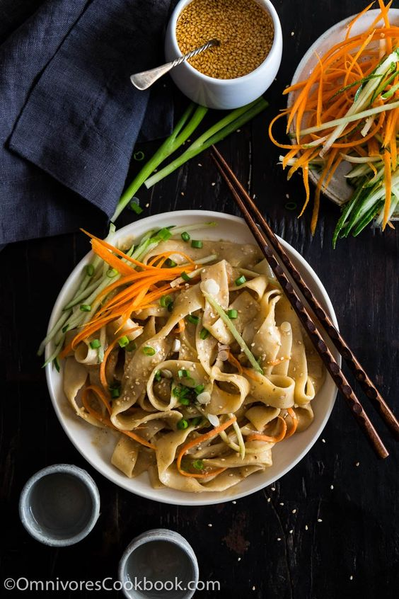 These real-deal Chinese sesame noodles are way better than takeout. This post teaches you how to use secret ingredients to make the sauce addictively tasty.: