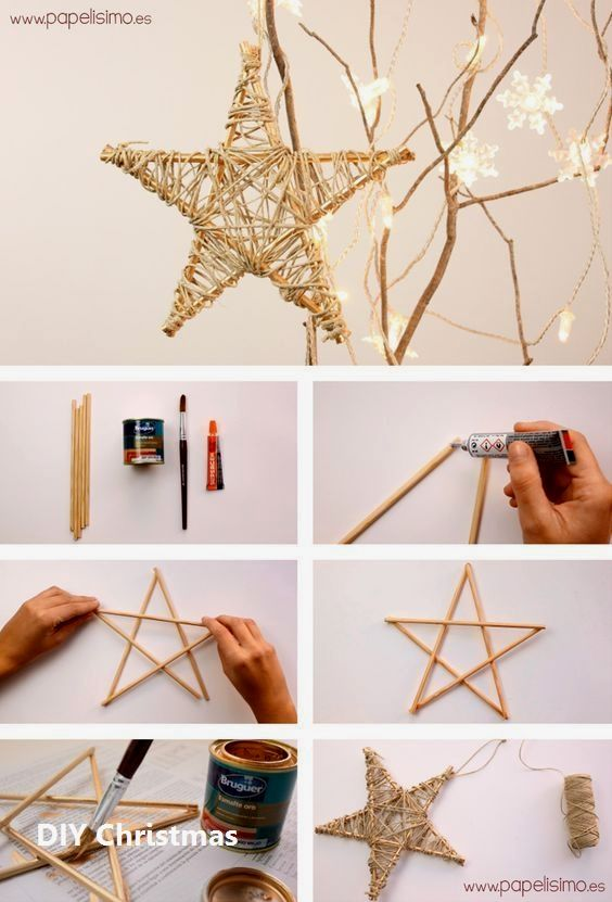kerst knutselen 2020 New DIY Christmas Ideas | Diy christmas star, Christmas decor diy