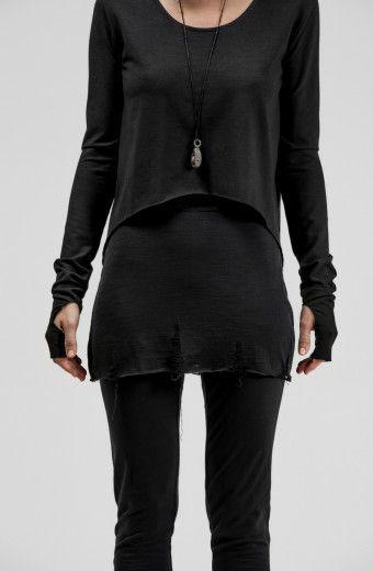 SUPERFINE MERINO WOOL LEGGINGS WITH SKIRT PANEL - OVATE / sisters of the black moon