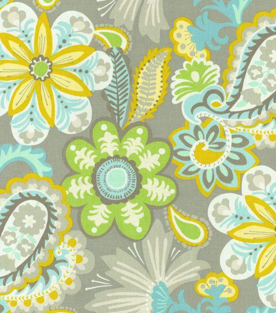 54 modern essentials print fabric flower child mineral for Modern kids fabric