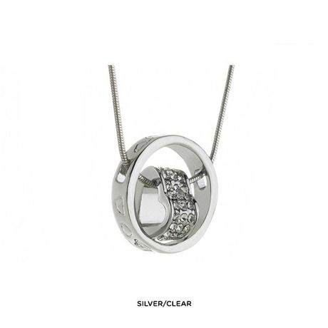 Encircled Heart Necklace Made with Swarovski Elements - Assorted Finishes at 92% Savings off Retail!