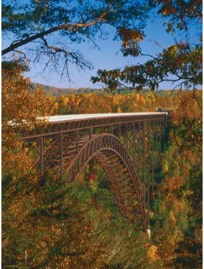 The New River Gorge Bridge - the longest single-span steel arch bridge.