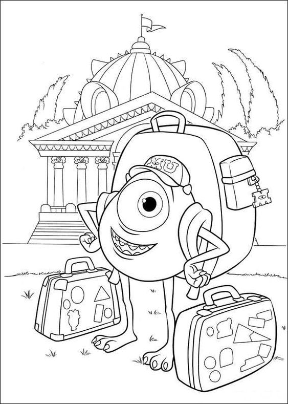 coloring pages of Monsters University