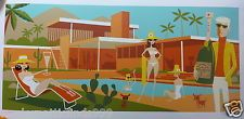 Signed Josh Agle Shag The Refill Palm Springs Desert Modern Kauffman House: