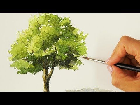 Easy Watercolor Painting Tree Youtube Watercolor Paintings