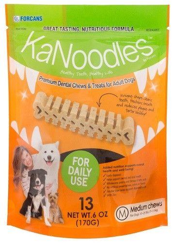 Forcans 19040 KaNoodles Premium Dental Chews & Treats Medium Dog, 13 Chews