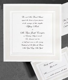 Ultimate Elegance Wedding Invitations - www.theamericanwedding.com