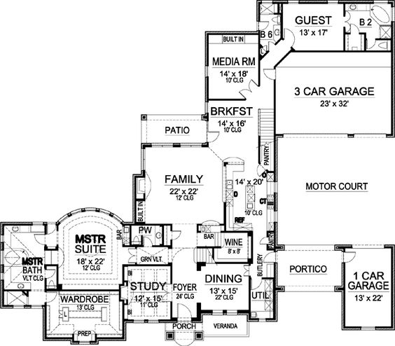 Luxury Style House Plans 5462 Square Foot Home 2 Story