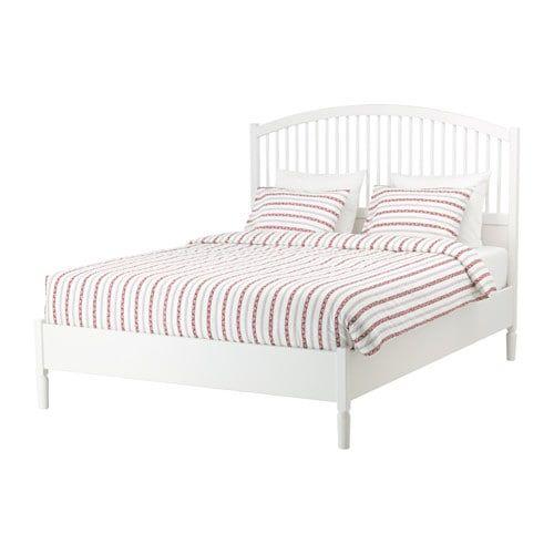 Tyssedal Bed Frame White Lonset Full Dengan Gambar Mebel