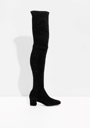 & Other Stories | Suede Over The Knee Slim-Fit Boots