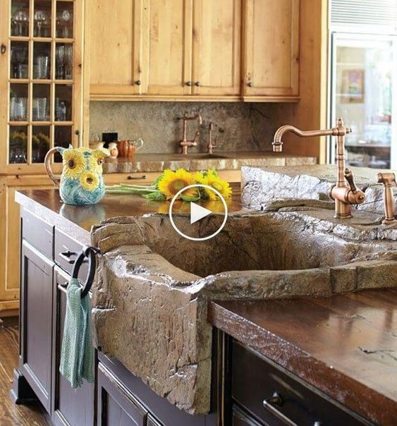 26 Boerderij Aanrecht ideeën, je kamer meer charmante en onvergetelijk  #keukenideeen #huisideeen