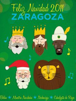 cartel navidad zaragoza 2011: