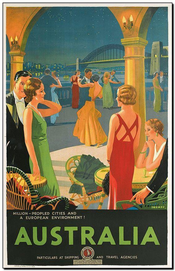 Australia Vintage Travel Posters Posters Australia Travel Posters