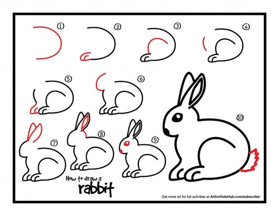 How To Draw A Rabbit - Art For Kids Hub - | The shorts, For kids ...