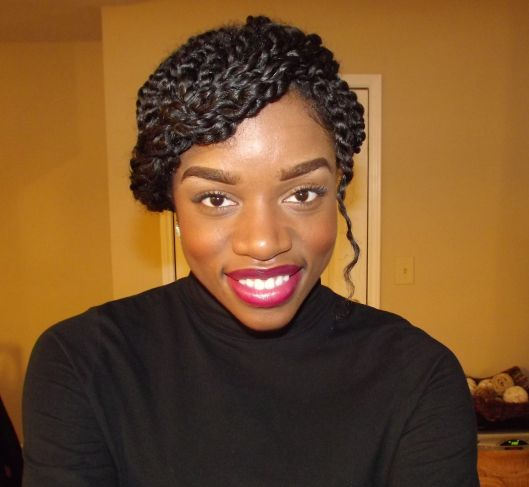 Winter Protective Style: Two Strand Twists Updo | Two ...