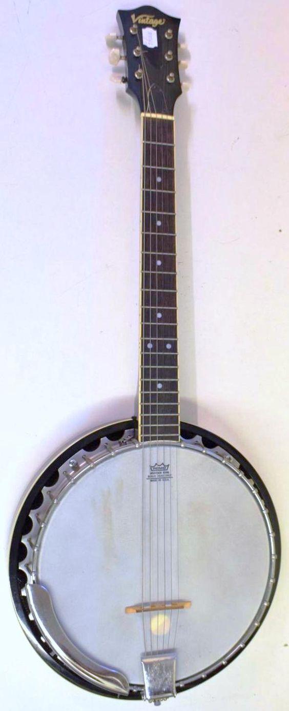 john Horny skewes JHS vintage banjo guitar banjitar gitjo ukulele corner
