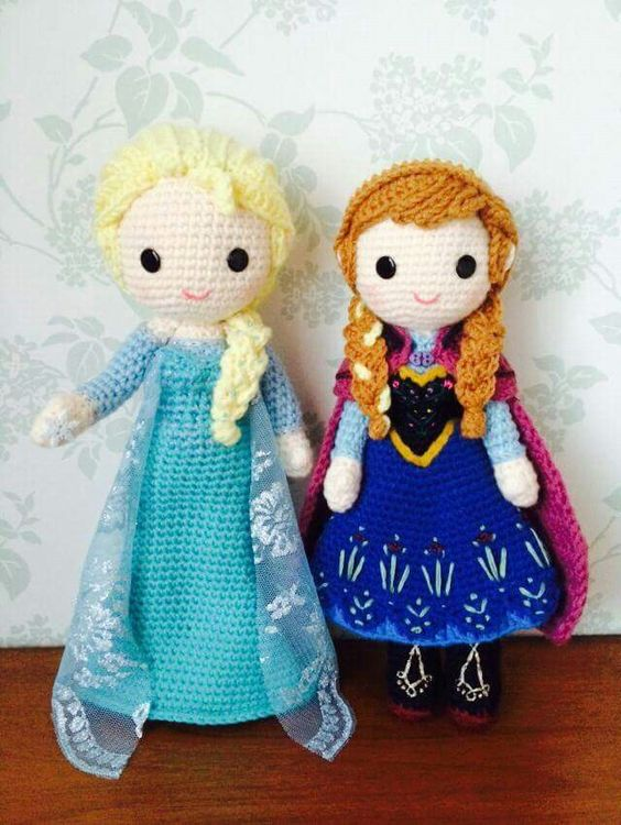 Crochet Frozen Doll : Frozen Amigurumi Pinterest Frozen