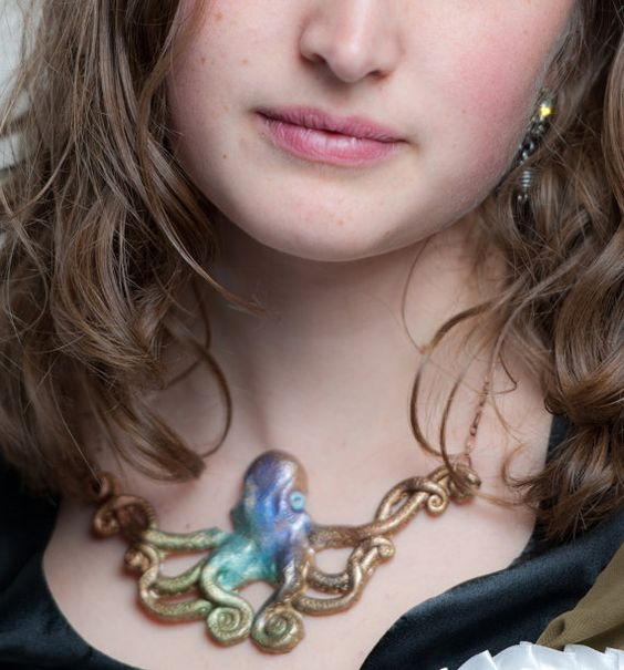 Custom Aloha Steampunk Opaque Octopus Necklace by PurpleKoiDesigns, $38.00 http://www.etsy.com/listing/118515642/custom-aloha-steampunk-opaque-octopus