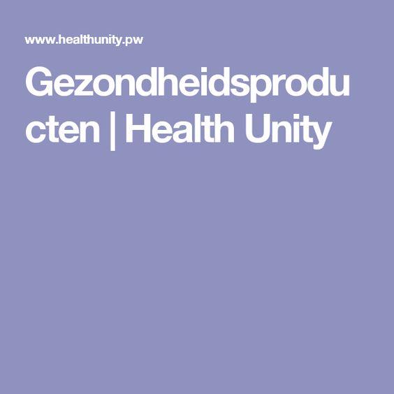 Gezondheidsproducten | Health Unity