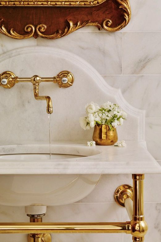 French Gold Fixtures 10 Bathroom Trends