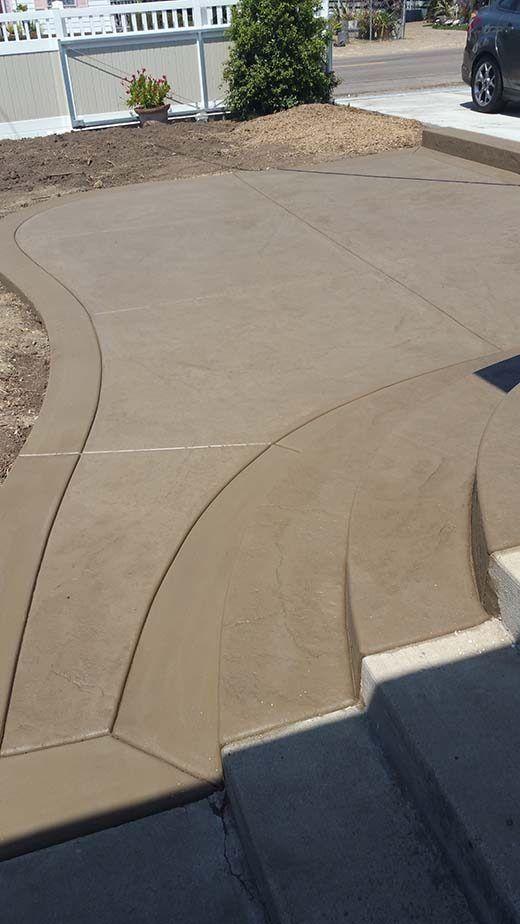 Concrete Entrance In San Diego Agundez Concrete Concrete Patio Patio Installation Patios