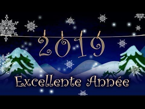 Carte De Vœux Virtuelle 2019 Excellente Annee Bonne Annee