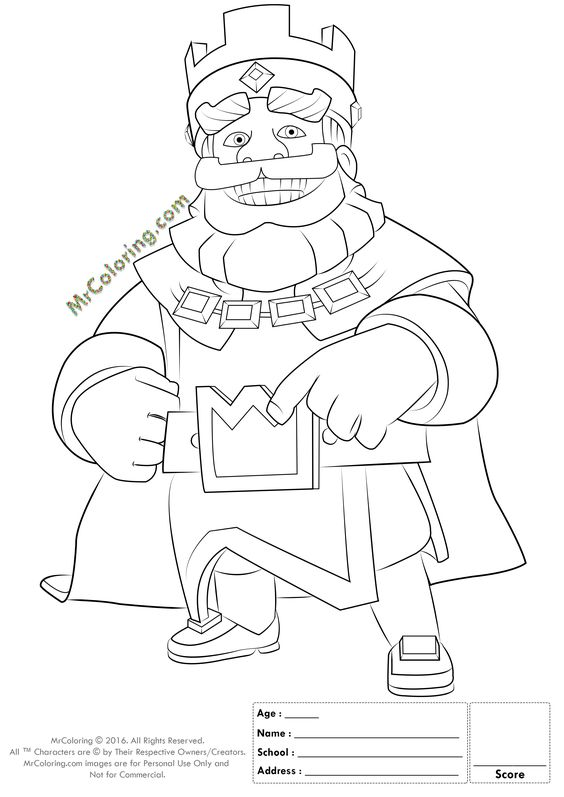 Clash Of Clans Coloring Pages Pdf : Clash royale coloring sheets pages