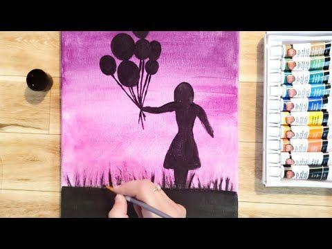 رسومات سهلة رسم فتاة تمسك بالونات بسهولة Draw A Girl Holding Balloons Step By Step Youtube Drawings Art Home Decor