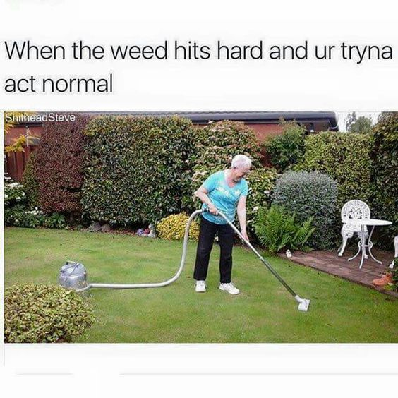 When the weed hits hard lol!