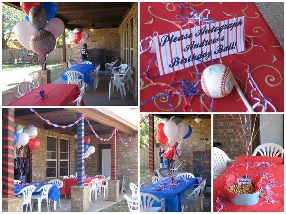 Lots of fun ideas for this baseball themed birthday party.