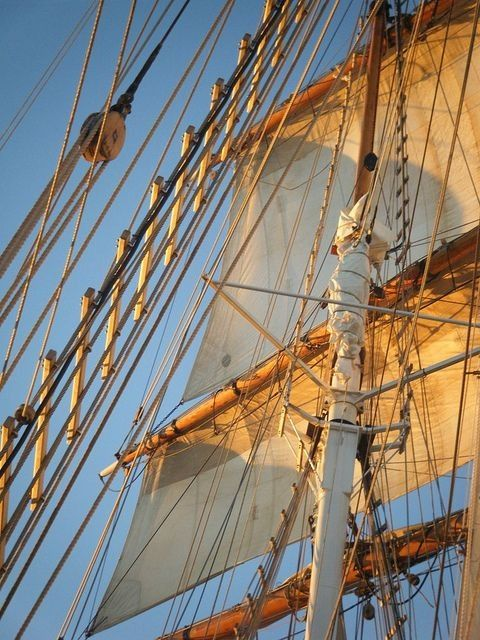 The mast of a tall ship...