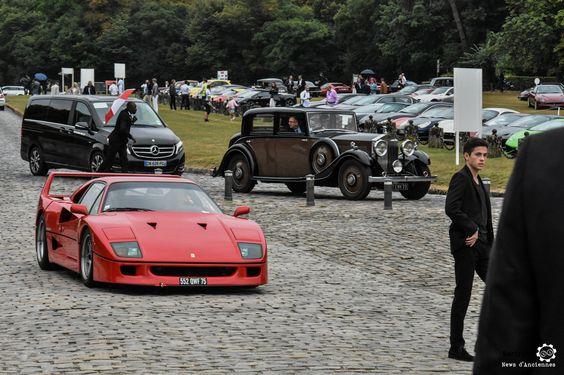 Ferrari F40 à Chantilly Arts et Elegance #MoteuràSouvenirs Reportage :  http://newsdanciennes.com/2016/09/05/chantilly-arts-et-elegance-2016-creme-creme/ #ClassicCar #VintageCar #Voiture #Ancienne