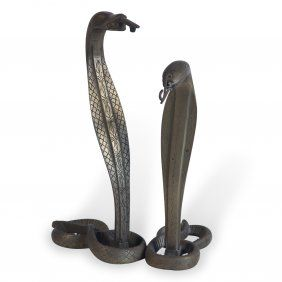 Snake Sculptures,Two : Lot 137