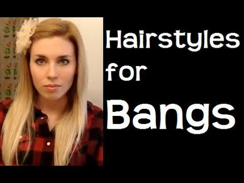 Since I'm trying to grow my bangs back out I need a way for them to look non-dorky for the next month or two...