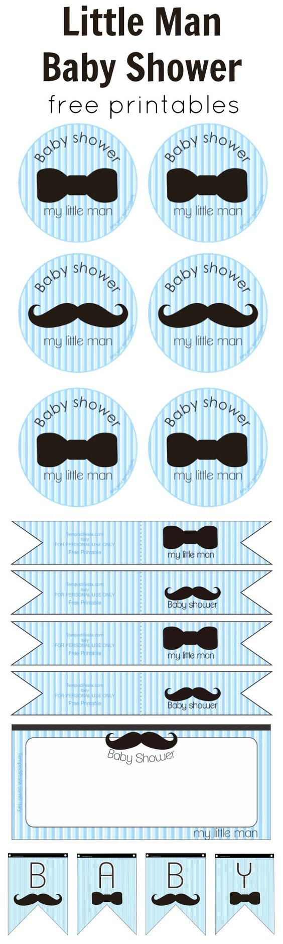baby shower set little man baby shower free printables boy 39 s baby