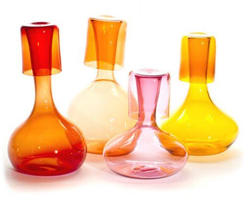 Glassware by Portland-based design studio Esque, via Design*Sponge.