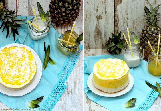 Sandra´s Tortenträumereien: {Werbung} Das etwas andere Törtchen aus Ananas- und Kokos-Sorbet