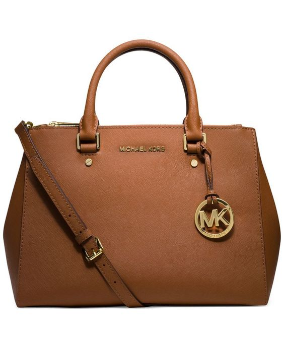 MICHAEL Michael Kors Sutton Medium Satchel - Handbags & Accessories - Macy's $328