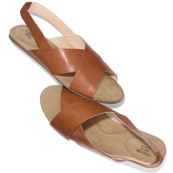 Cushion walk 174 cross band flat sandal avon shoes amp boots pinterest