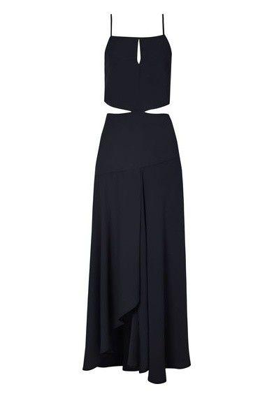 Be.tha - Vestido longo Vendée - preto - OQVestir